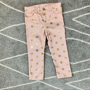 Baby Gap Pink Jeans with Gold Stars 4 Years